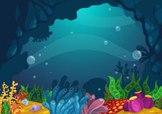 Under the sea background. Illustration of under the sea background vector Stock Photos