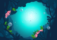 Under the sea background. Illustration of under the sea background vector Royalty Free Stock Photo