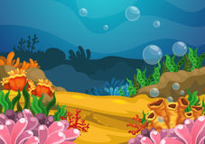 Under the sea background. Illustration of under the sea background vector Royalty Free Stock Photography