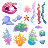 Under the sea clip art Royalty Free Stock Image