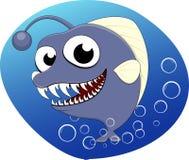 Under sea Fish. Illustration Of Under Sea Fish on Blue Water Stock Photo