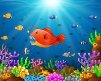 Under the sea. Illustration of under the sea Royalty Free Stock Photo