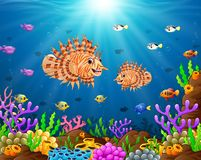 Under the sea. Illustration of under the sea Stock Photos