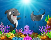 Under the sea. Illustration of under the sea Royalty Free Stock Photos