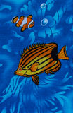 Under sea life. Print fabric Stock Image