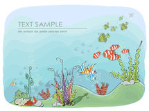 Under the sea, nature concept background Stock Photography