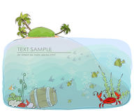 Under the sea, nature concept background Royalty Free Stock Photos