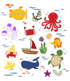 Under the sea (no background) Royalty Free Stock Image