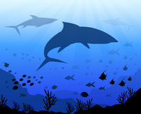 Under the Sea & Ocean-Vector Royalty Free Stock Photography