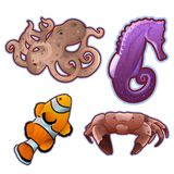 Under the sea - Set of detailed vector icons. Eps10 Stock Photography
