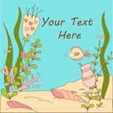 Under The Sea Whimsical Card/Invitation. Stock Photo