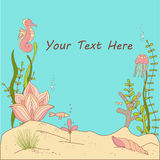 Under The Sea Whimsical Card/Invitation. Stock Photography