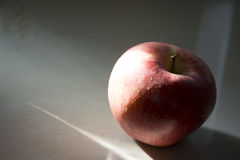 Under the shadow of apple. Under the shadow of a red apple, very good fruit material Stock Images