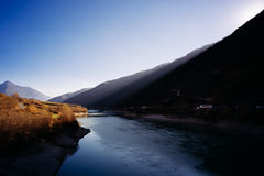 Under the shadow of the Jinsha River stock image