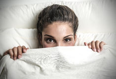 Under the sheets Stock Photos