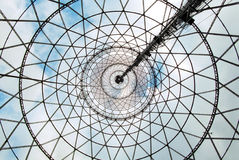 Under the Shukhov radiotower (Moscow). View from the Shukhov radiotower (Moscow, Shabolovka stock photos