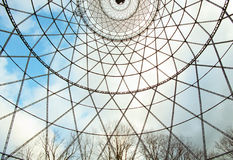 Under the Shukhov radiotower (Moscow). View from the Shukhov radiotower (Moscow, Shabolovka royalty free stock images
