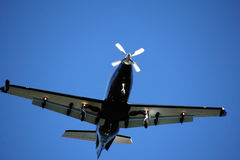 Under Side of Single Prop Plane Stock Photography