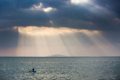 Under the sky, the beautiful sea. Visit the beautiful scenery of the sea in the holiday Stock Images