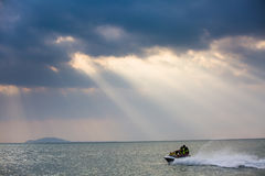 Under the sky, the beautiful sea Stock Photography