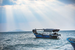 Under the sky, the beautiful sea. Visit the beautiful scenery of the sea in the holiday Stock Photography