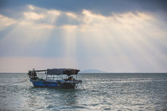 Under the sky, the beautiful sea. Visit the beautiful scenery of the sea in the holiday Royalty Free Stock Photography