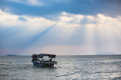 Under the sky, the beautiful sea Stock Image