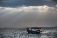 Under the sky, the beautiful sea Stock Photo