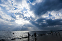 Under the sky, the beautiful sea Stock Images