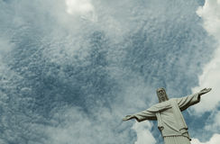 Under the sky. Reproduct Christ the Redeemer sculpture thailand Royalty Free Stock Photography