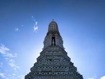 Under the Sky. A shot at Wat Aroon, located in Rattanakosin Island, Bangkok, Thailand Stock Photo