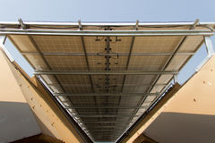 Under solar panels Stock Images