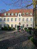 Under solen för Recklinghausen stad` s arkivbild