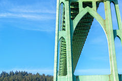 Under the St John's Bridge. View under the St John's Bridge in Portland, Oregon Stock Photos