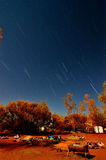 Under Star Trails Stock Images