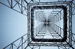 Under steel tower construction Royalty Free Stock Photography