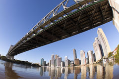 From Under The Story Bridge Royalty Free Stock Photos