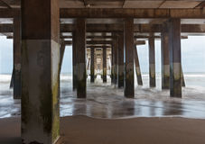 Under strandpromenaden tjatar Head North Carolina Arkivbild