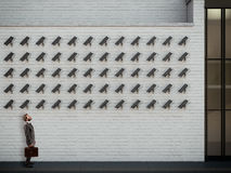 Under surveillance. 3D Rendering Royalty Free Stock Photography