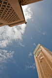 Under two towers in the Hassan II Mosque,Morocco Royalty Free Stock Photo
