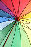 Under an umbrella Stock Photography