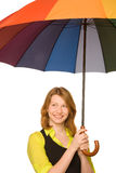 Under umbrella Stock Photo