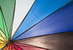 Under the umbrella Stock Photo