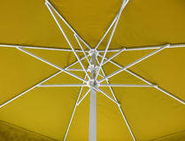 Under umbrella background - yellow Stock Photography
