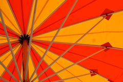 Under the umbrella on a summer day Stock Photo