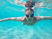 under vatten Fotografering för Bildbyråer