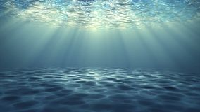 Under vatten med strålen av ljus kretsa video bakgrund vektor illustrationer