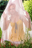 Under a veil Stock Images