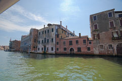 From Under the Venice Bridge. Along the Grand Channel. From Under Rialto Bridge Stock Photography