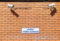 Under video control Stock Image